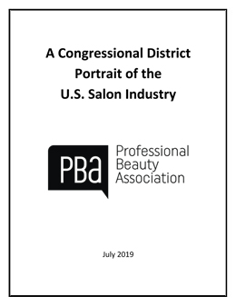 Portrait of the US Salon - Spa Industry by Congressional District - All Establishments - 2019