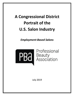 Portrait of the US Salon - Spa Industry by Congressional District-Employment Based Salons - 2019